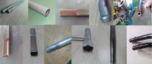 TM40 tube end forming machine samples