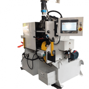 vertical 3 station tube end forming with cutting function